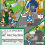 плакат 9 Правила поведения при дорожно-транспортном происшествии